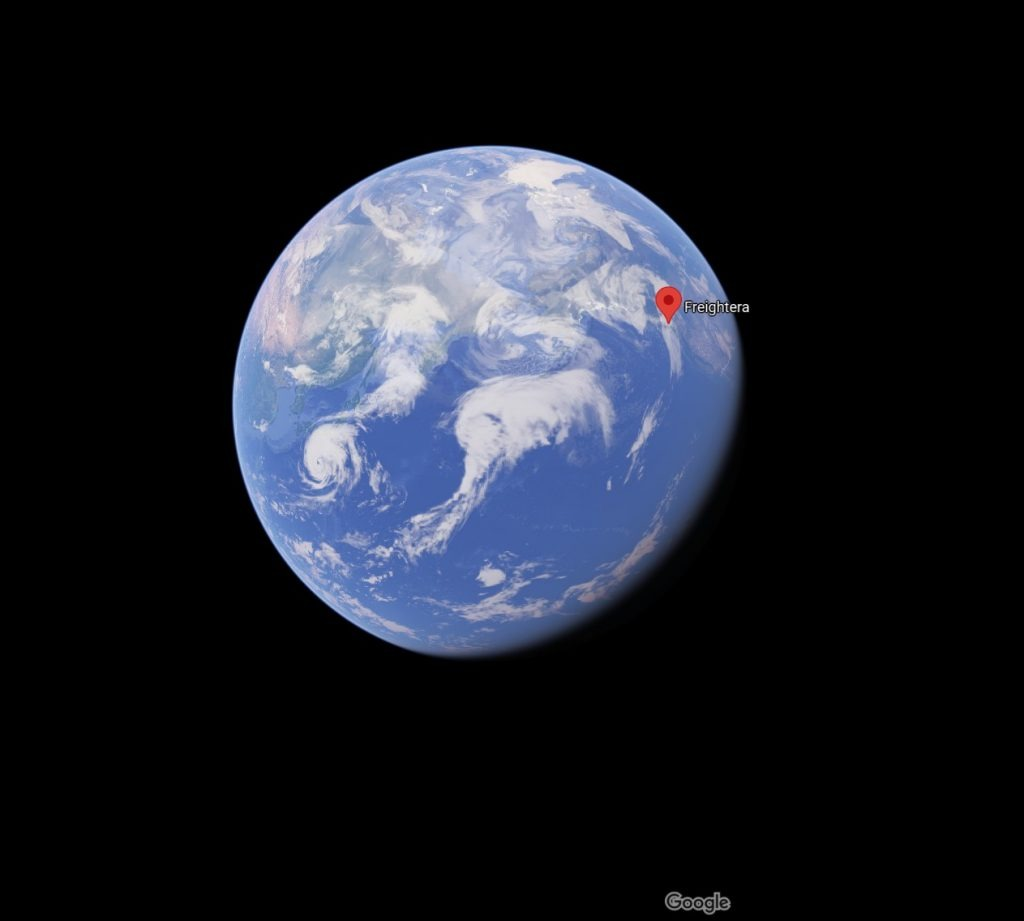 Google earth pin of Freightera's location