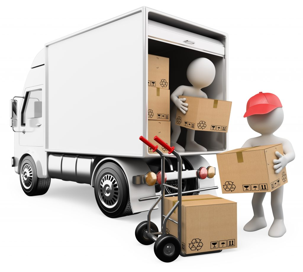 Illustration depicting a driver assisting with offloading